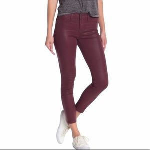 NEW PISTOLA Coated Skinny Jeans in Cabronet Wine